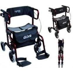 Rollator-chaise roulante Drive